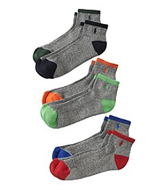 Polo Ralph Lauren® Men's 6-Pack Gray Quarter Socks