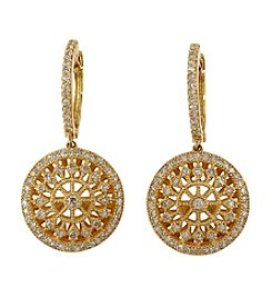 Effy® 0.72 ct. t.w. Diamond Drop Earrings in 14K Yellow Gold