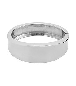 Kenneth Cole® Silvertone Sculptural Hinged Bangle Bracelet