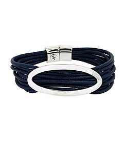 Kenneth Cole® Blue Oval & Cord Multi Row Bracelet