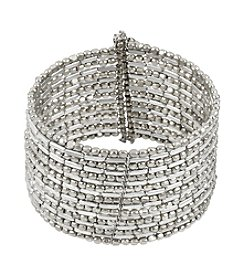 Kenneth Cole® Silvertone Seed Bead Coil Bracelet
