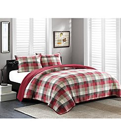 INK+IVY Maddox 3-pc. Red Quilt Set