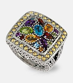 Effy® Semi-Precious Mix Ring in Sterling Silver & 18K Gold