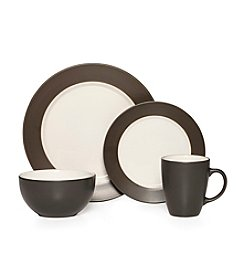 Pfaltzgraff® Harmony Rim Gray 16-pc. Dinnerware Set