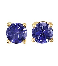 Effy® Tanzanite Royale Collection Tanzanite Earrings in 14K Yellow Gold