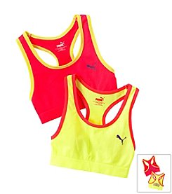 PUMA® Pink/Yellow 2-pk. Sports Bras