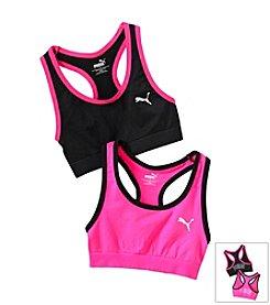 PUMA® Pink Black 2-pk. Sports Bras b7cdcf279c1b