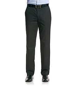 Calvin Klein Men's Black Straight Fit Twill Pants