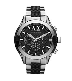 A|X Armani Exchange Men's Sport Chronograph Watch with Black Rubber Insert