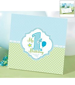 Lillian Rose® 1st Birthday Blue Memory Book