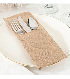 Lillian Rose® Set of Four Burlap Silverware Holders