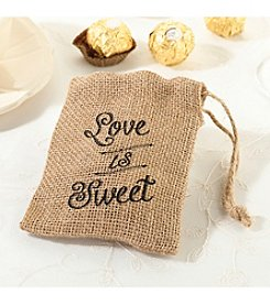 Lillian Rose® Set of Four Burlap Favor Bags