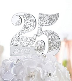 Lillian Rose® 25th Anniversary Cake Pick