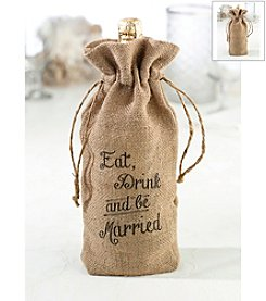 Lillian Rose® Burlap Wine Bag