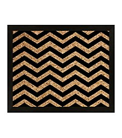 Black Chevron Cork Board