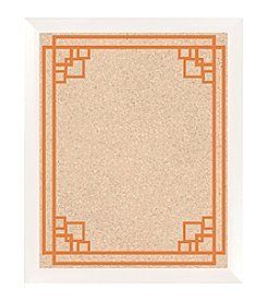 Angular Border Pattern Orange Cork Memo Board
