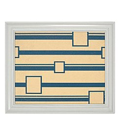 Linear Squares Pattern Navy Cork Memo Board