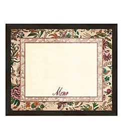 Vintage Botanical Memo II Framed Graphic Board