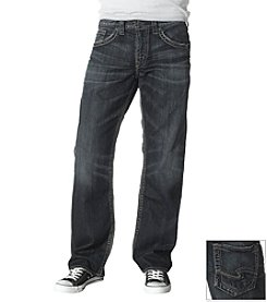 Silver Jeans Co. Men's Dark Wash Indigo Gordie Straight Fit Stretch Jeans