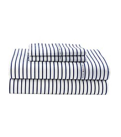 Tommy Hilfiger® Signature Stripe Blue Print Sheet Set