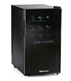 Wine Enthusiast Silent 18-Bottle Dual Zone Touchscreen Wine Refrigerator