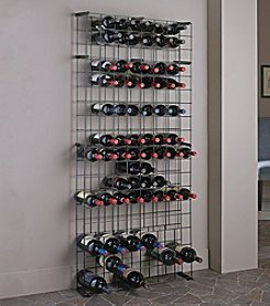 Wine Enthusiast 138-Bottle Black Tie Grid with Three Magnum Rows