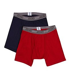 Jockey® Boys' Red/Navy 2-pk. Boxer Briefs