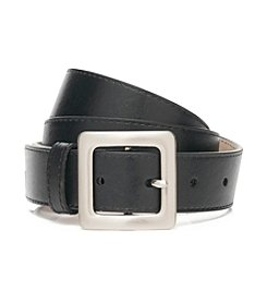 Fashion Focus Casual Smooth Belt with Center Bar Buckle