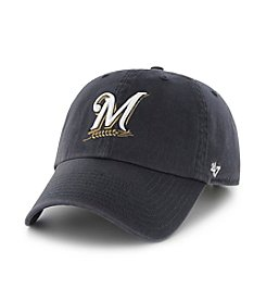 '47 Brand Men's Milwaukee Brewers 'Clean Up' Adjustable Team Hat