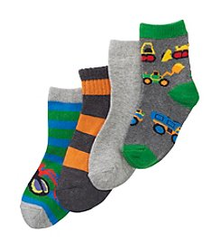Statements Boys' Assorted Bugs and Tools 4-pack Socks