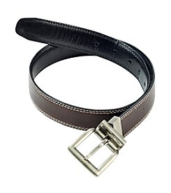 Statements Boys' Black/Brown Reversible Belt