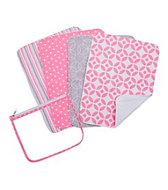 Trend Lab 4-pk. Lilly Burp Cloth Set