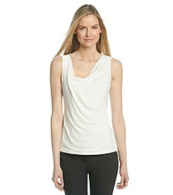 Ivanka Trump® Drape Front Knit Top