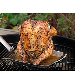 Charcoal Companion® Stainless Steel Beer Can Chicken Rack with Removable Handle