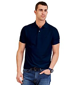 Nautica Men's Short Sleeve Solid Deck Polo