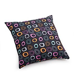 Zuo Modern Chocolate Base with Multicolor Pattern Outdoor Pillow
