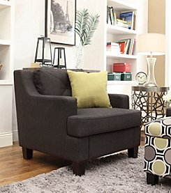 Home Interior Frederick Dark Grey Linen Arm Chair