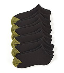 GOLD TOE® Women's 6-Pack Black Cushion Liner Socks