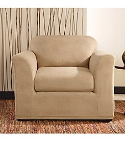 Sure Fit® Stretch Leather Chair 2-pc. Slipcover