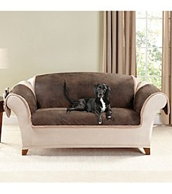 Sure Fit® Vintage Leather Reversible Furniture and Pet Loveseat and Sofa Throw
