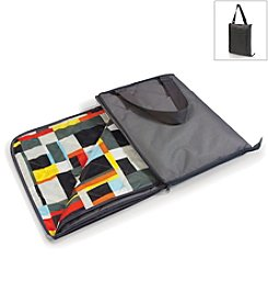 Picnic Time® Vista Gray with Geometric Print Outdoor Blanket