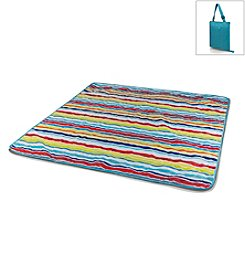 Picnic Time® Vista Aqua with Stripes Outdoor Blanket