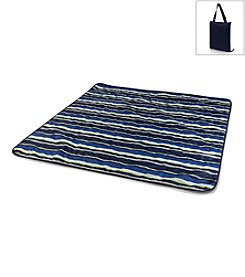 Picnic Time® Vista Navy with Lime Stripes Outdoor Blanket