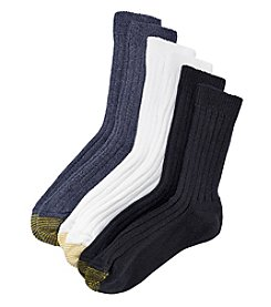 GOLD TOE® 3-Pack AquaFX® Cool Colors Weekend Socks