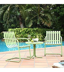 Crosley Furniture Gracie 3-pc. Metal Outdoor Oasis Green Conversation Seating Set