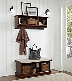 Crosley Furniture Brennan 2-pc. Entryway Bench & Shelf Set