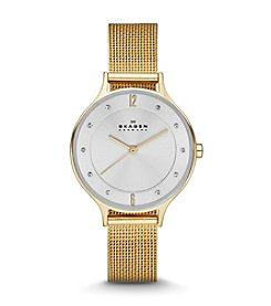 Skagen Women's Anita Watch in Goldtone Mesh