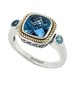 Effy® Balissima 18K Yellow Gold/Silver Blue Topaz Ring