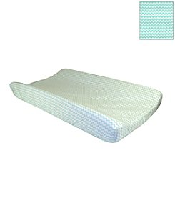 Trend Lab Mint Green/White Chevron Changing Pad Cover