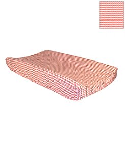 Trend Lab Coral Pink/White Chevron Changing Pad Cover